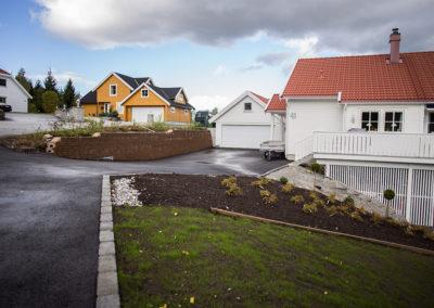 Asfalt og planering av tomt – Råholt